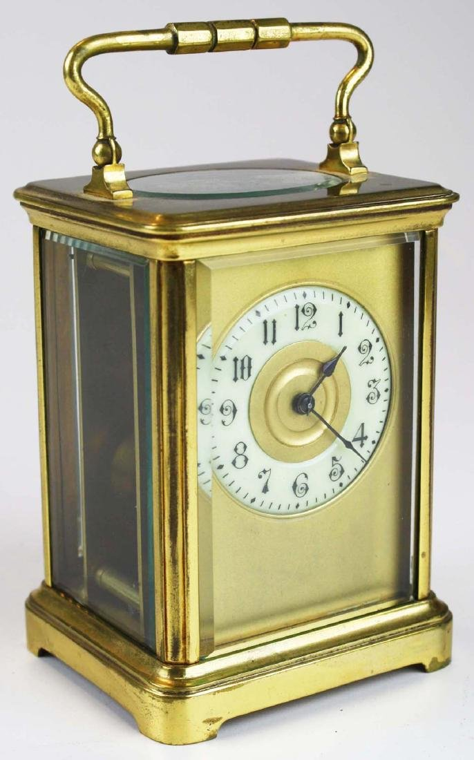 early 20th c gilt brass carriage clock - 3
