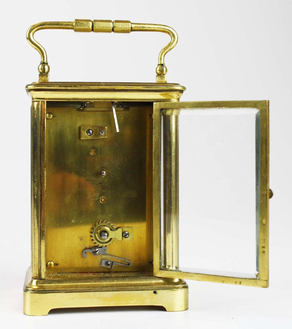 early 20th c gilt brass carriage clock - 4