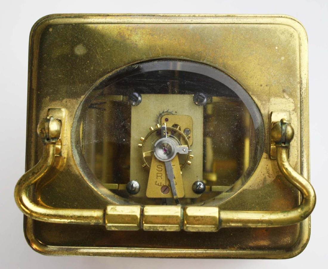 early 20th c gilt brass carriage clock - 5