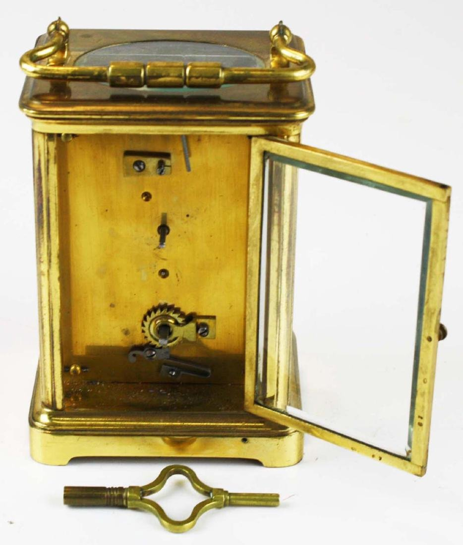 early 20th c gilt brass carriage clock - 6