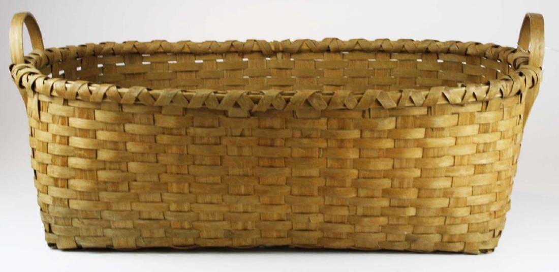 late 19th c New England woven splint basket