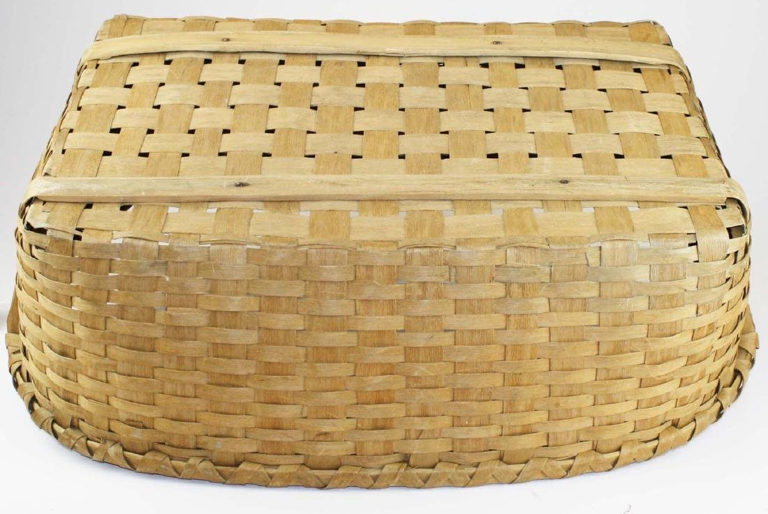 late 19th c New England woven splint basket - 6