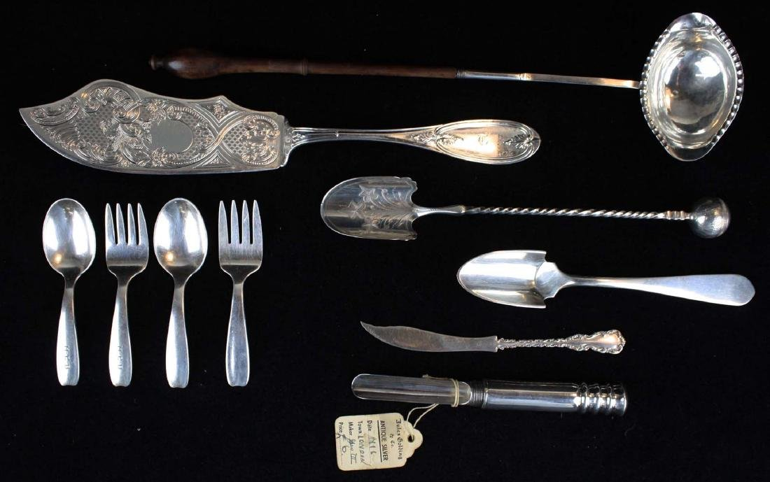 10 pcs sterling silver flatware incl. Tiffany