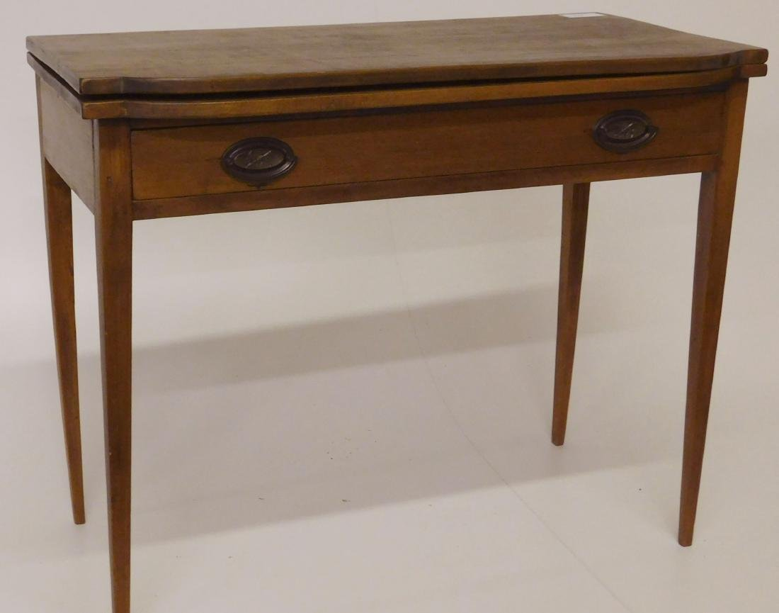 Hepplewhite country card table