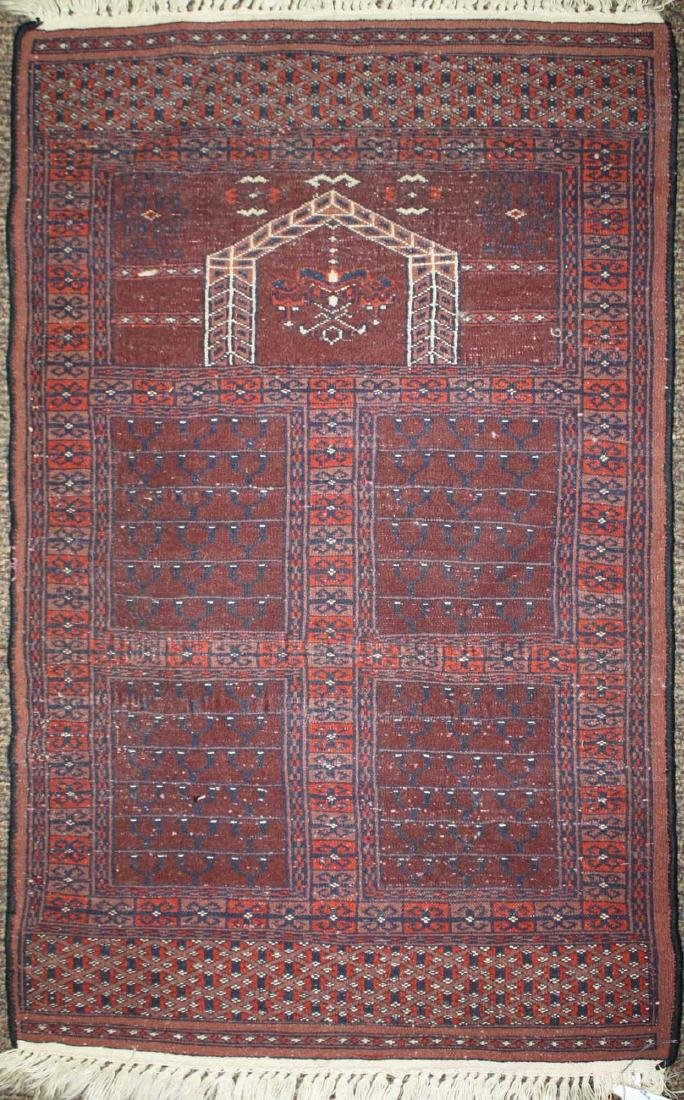 late 20th c Tekke prayer rug - 4