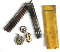 Masonic jewelry lot