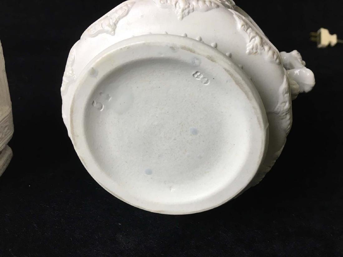 Parian ware syrup and sugar - 2