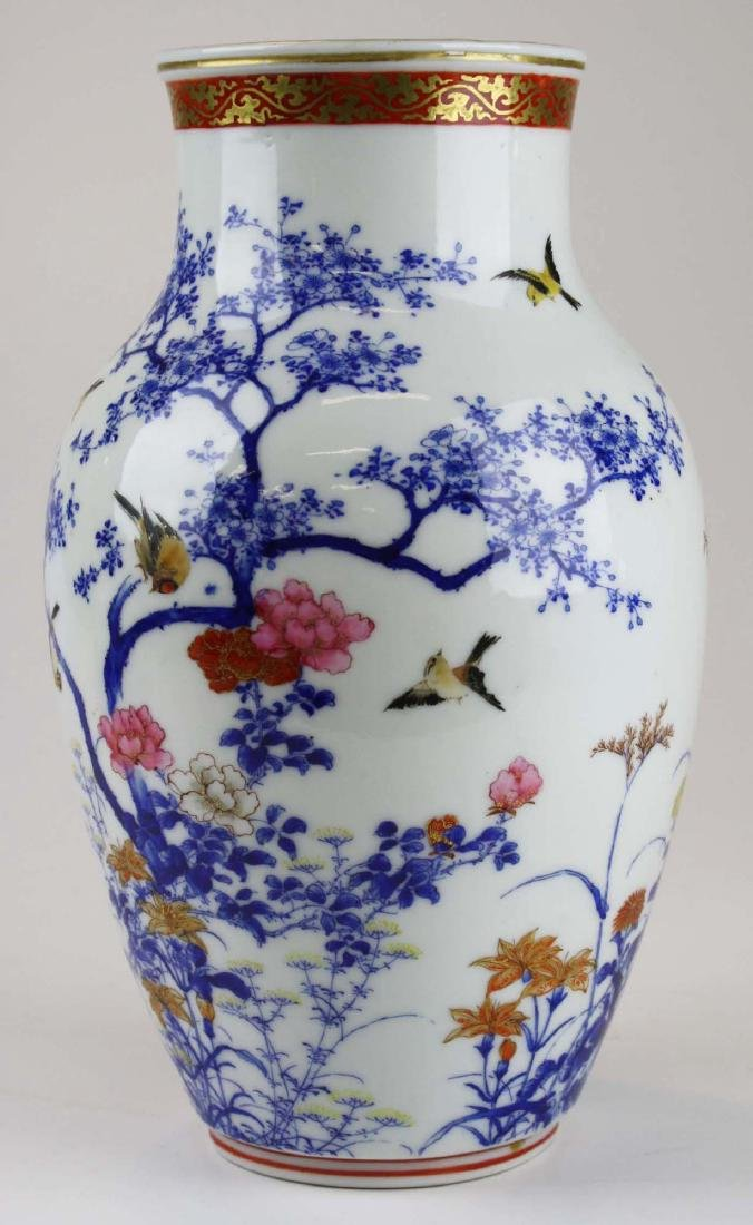 ca 1910-1920 Japanese Seto porcelain vase - 2