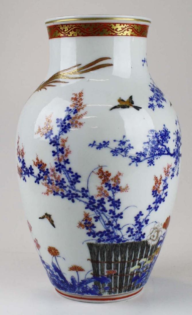 ca 1910-1920 Japanese Seto porcelain vase - 4