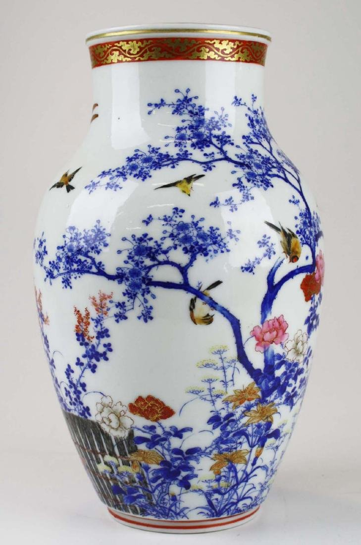 ca 1910-1920 Japanese Seto porcelain vase - 5