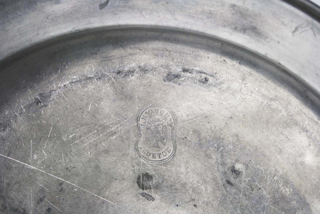 late 18th- early 19th c pewter chargers & basin - 5