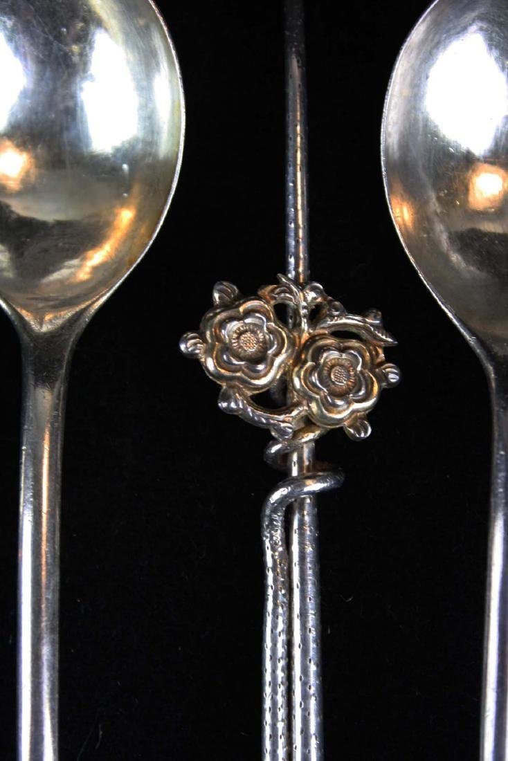 7  Chinese silver spoons including teaspoons - 3