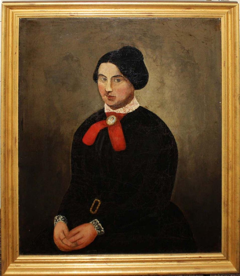 Mid 19th c portrait of a young woman