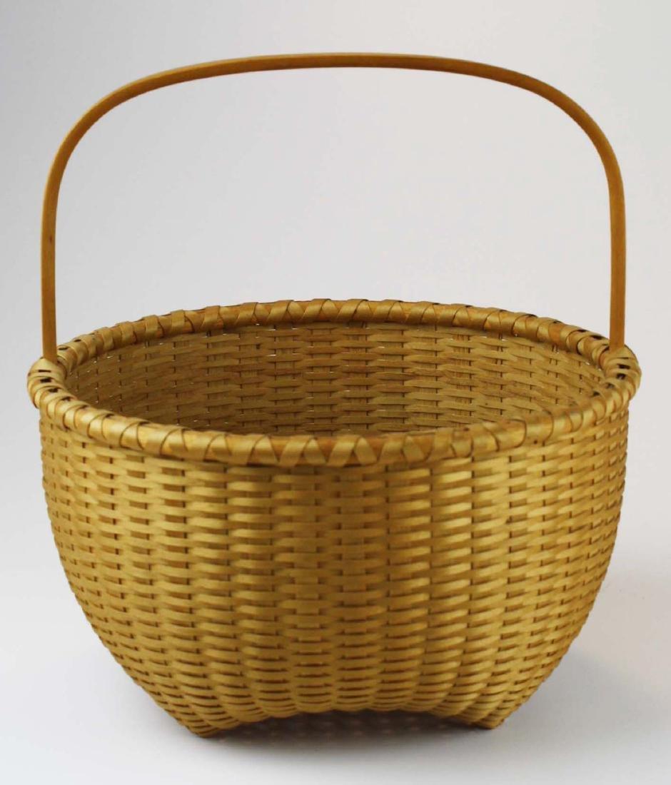 Martha Wetherbee signed Shaker Cat's Head basket