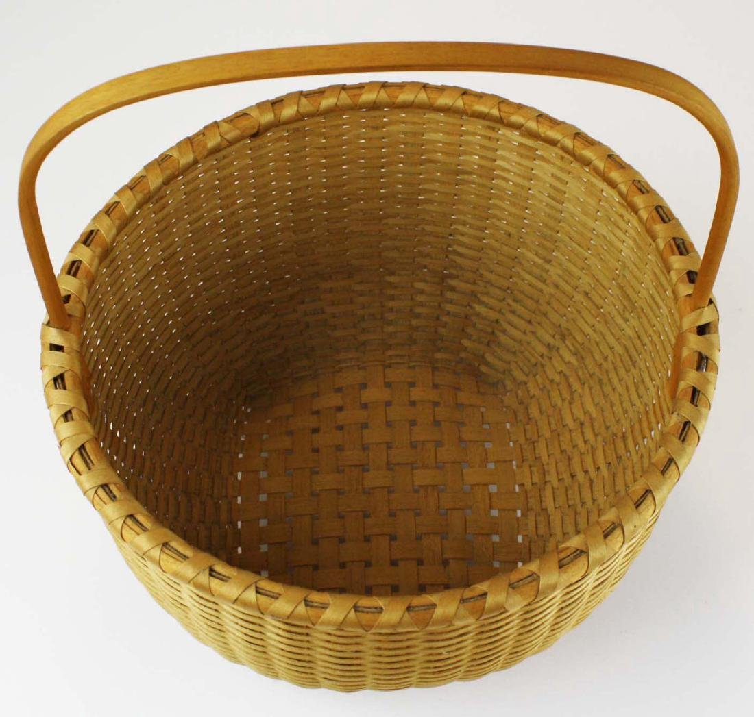Martha Wetherbee signed Shaker Cat's Head basket - 2