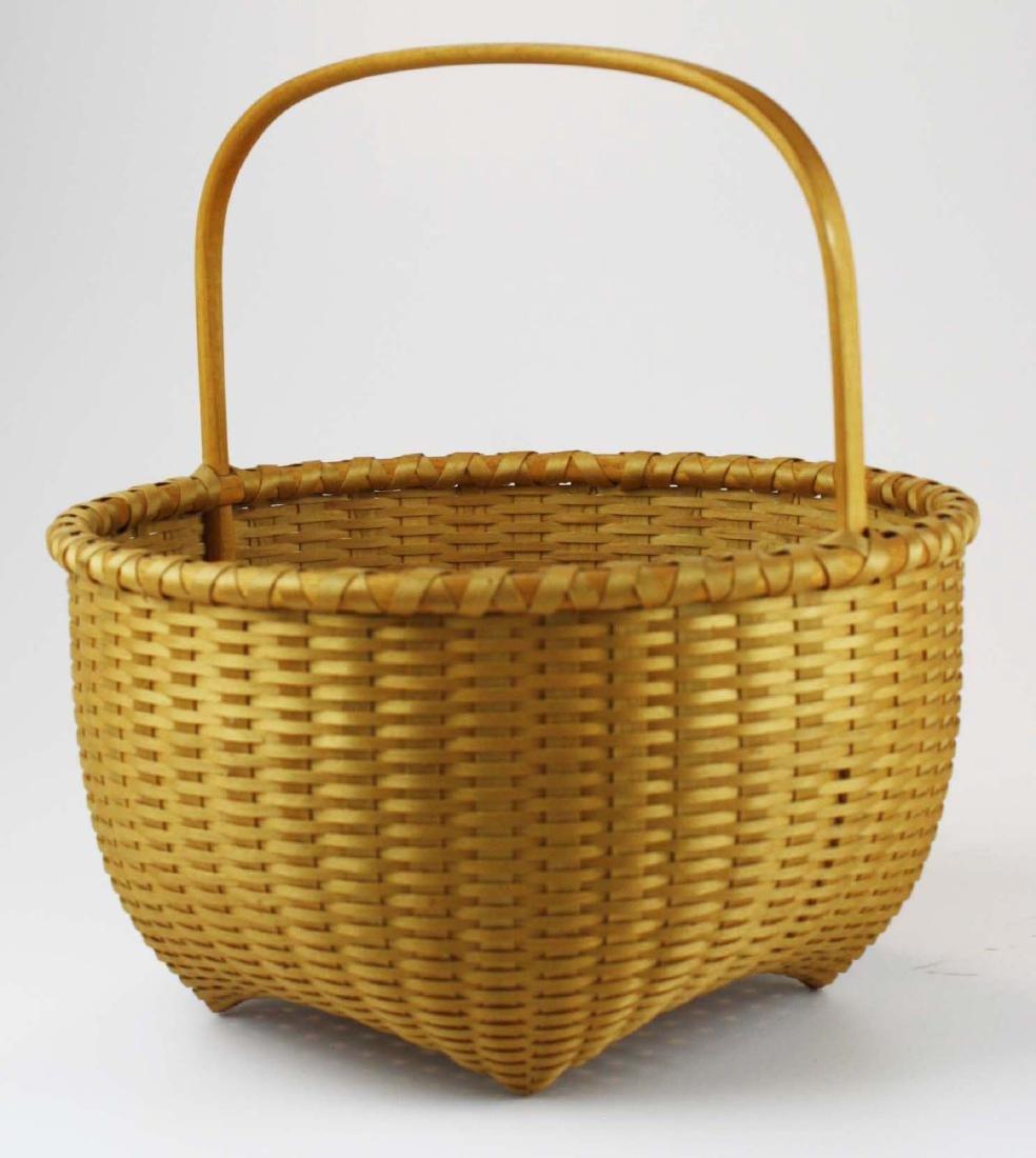Martha Wetherbee signed Shaker Cat's Head basket - 3