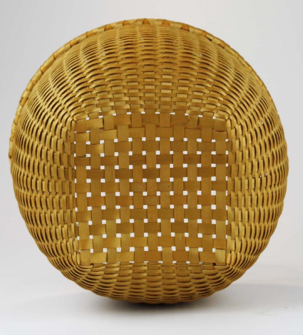 Martha Wetherbee signed Shaker Cat's Head basket - 4