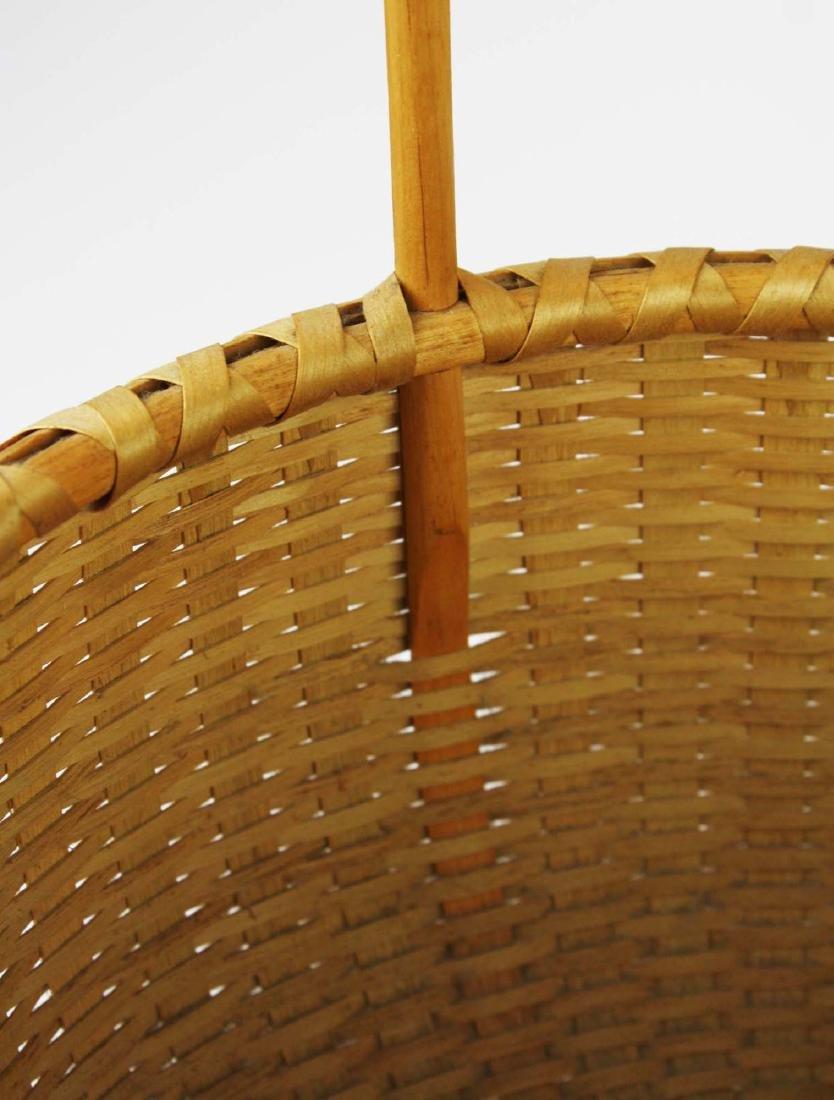 Martha Wetherbee signed Shaker Cat's Head basket - 5