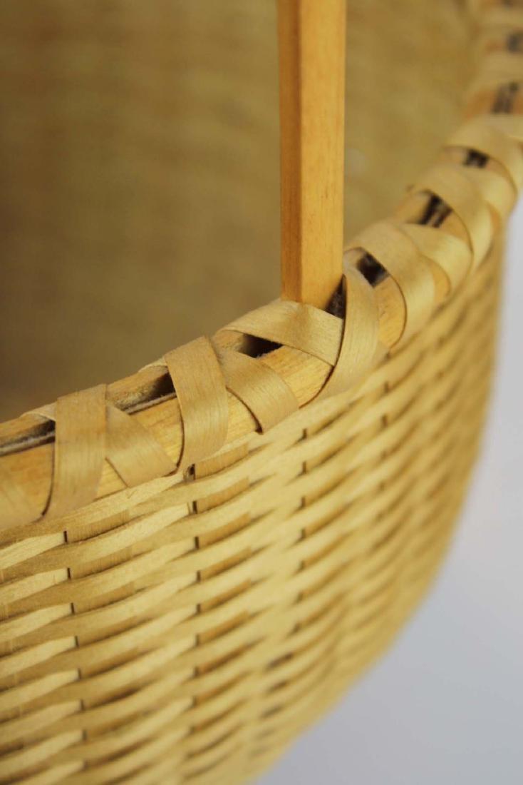 Martha Wetherbee signed Shaker Cat's Head basket - 6