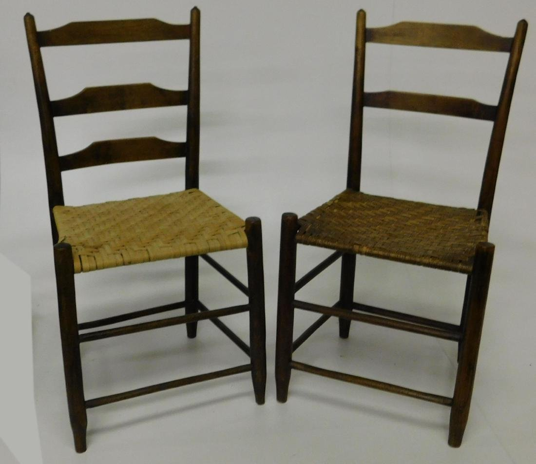 Four Ladder back chairs