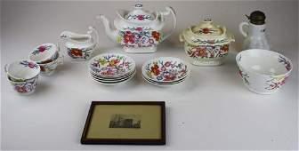 soft paste china tea set wChinoiserie decoration