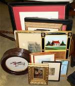 late 19th- early 20th c frames, prints, & mirrors