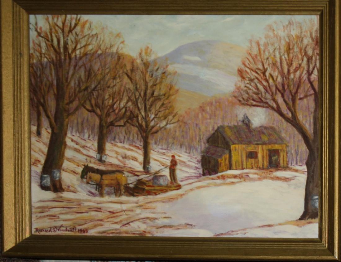 Richard S Woodruff (VT 20th c ) Sugarhouse