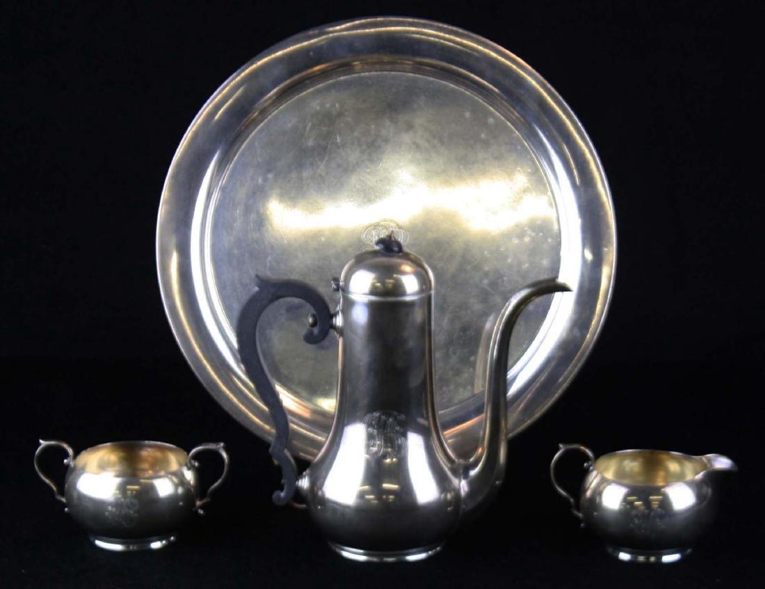 4 pc Gorham sterling silver demitasse set