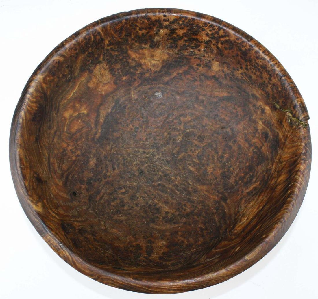 early 20th c burl ash bowl - 2