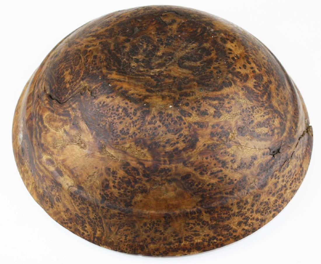 early 20th c burl ash bowl - 3