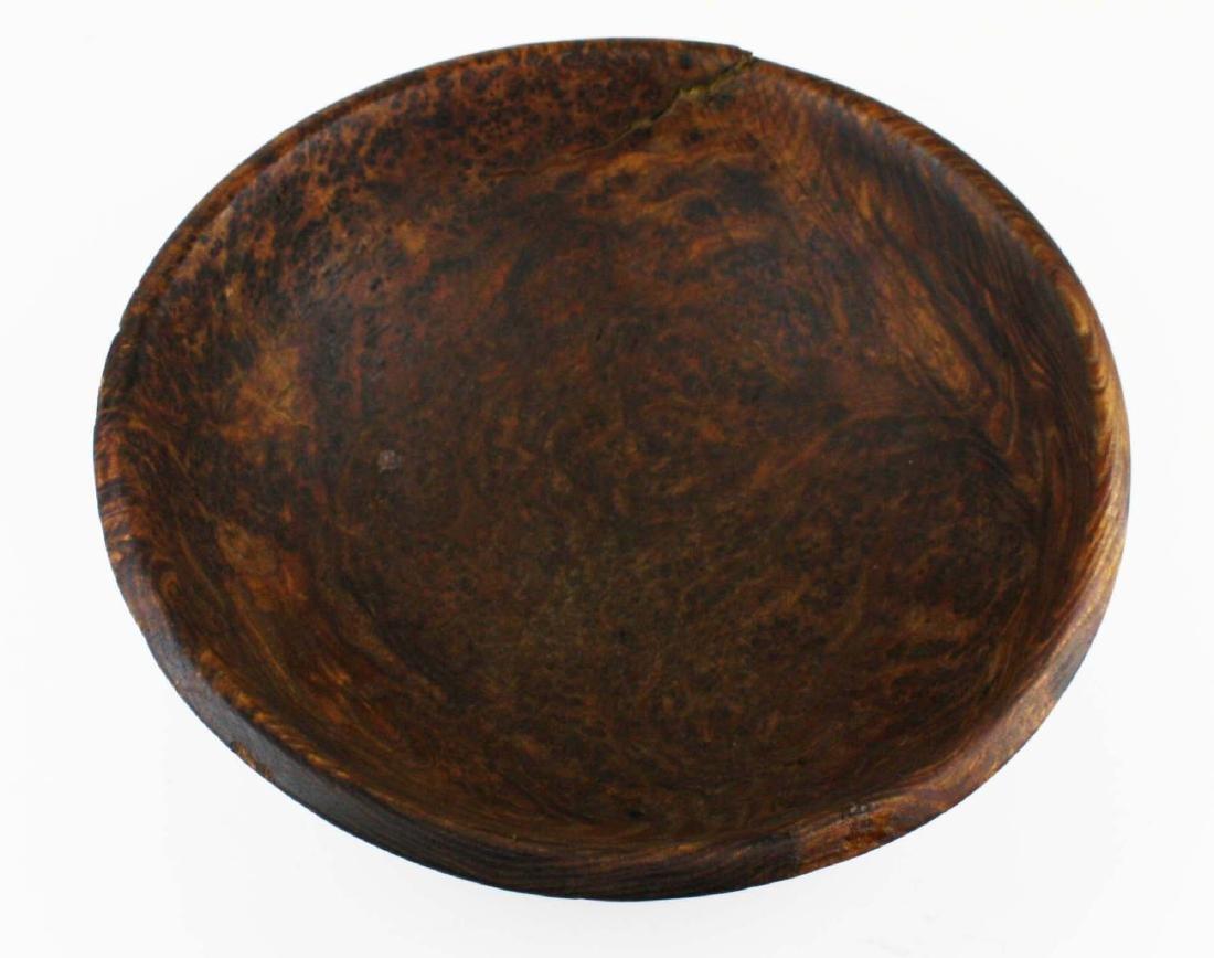 early 20th c burl ash bowl - 4