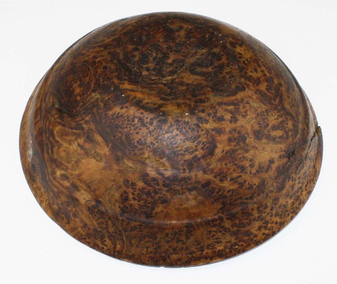 early 20th c burl ash bowl - 5
