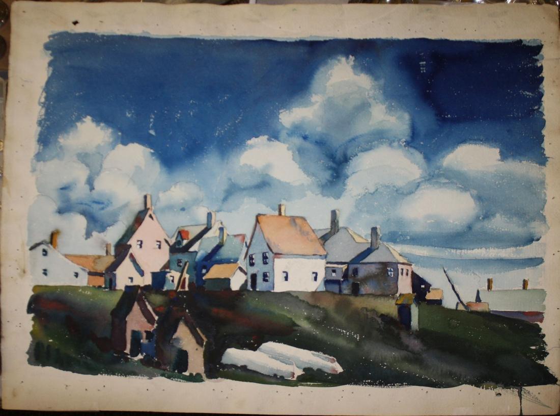 Walton Blodgett (VT 1908-1963) Cluster of Houses
