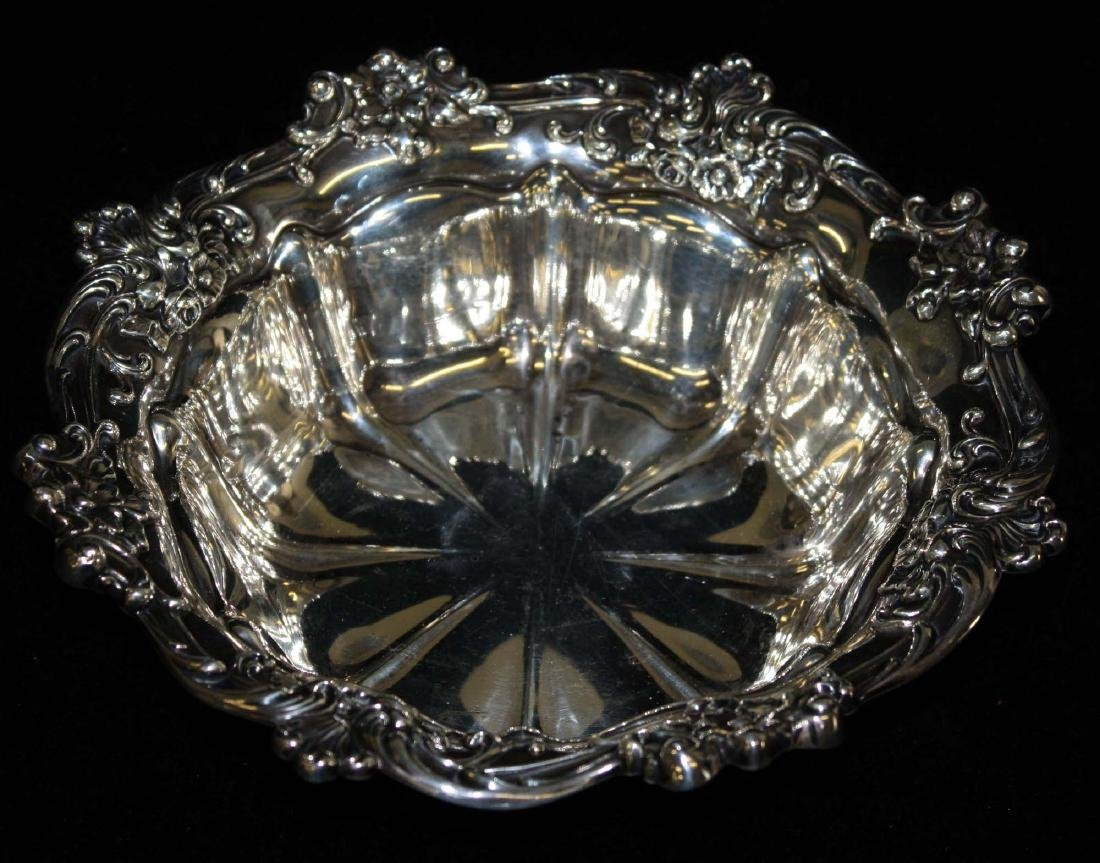 Gorham ornate sterling silver serving bowl