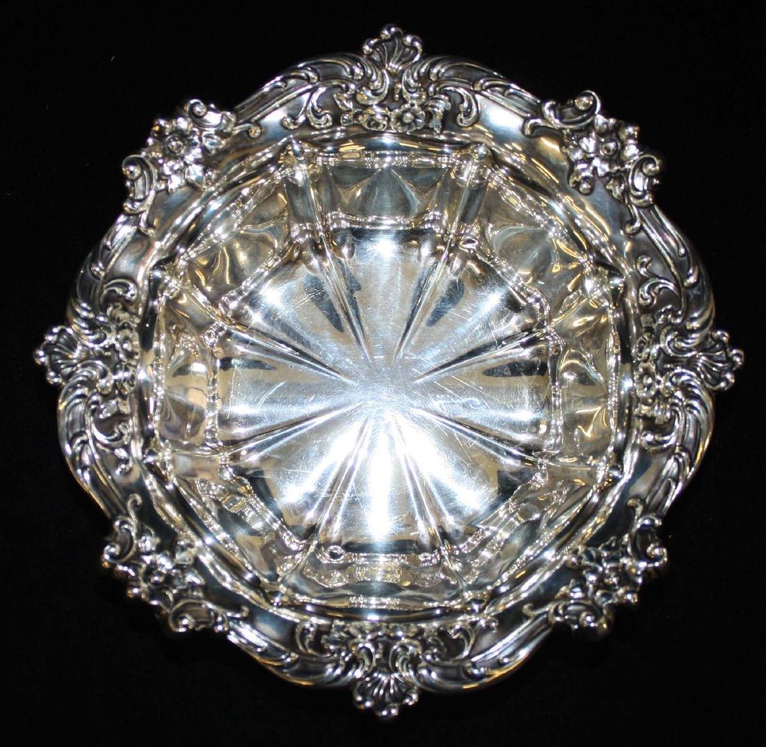 Gorham ornate sterling silver serving bowl - 2