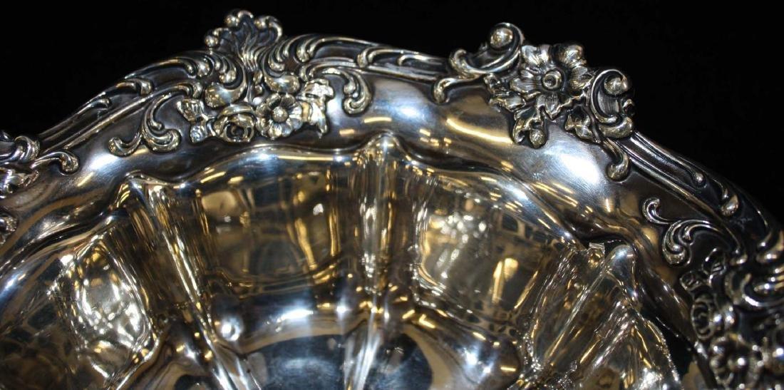 Gorham ornate sterling silver serving bowl - 3