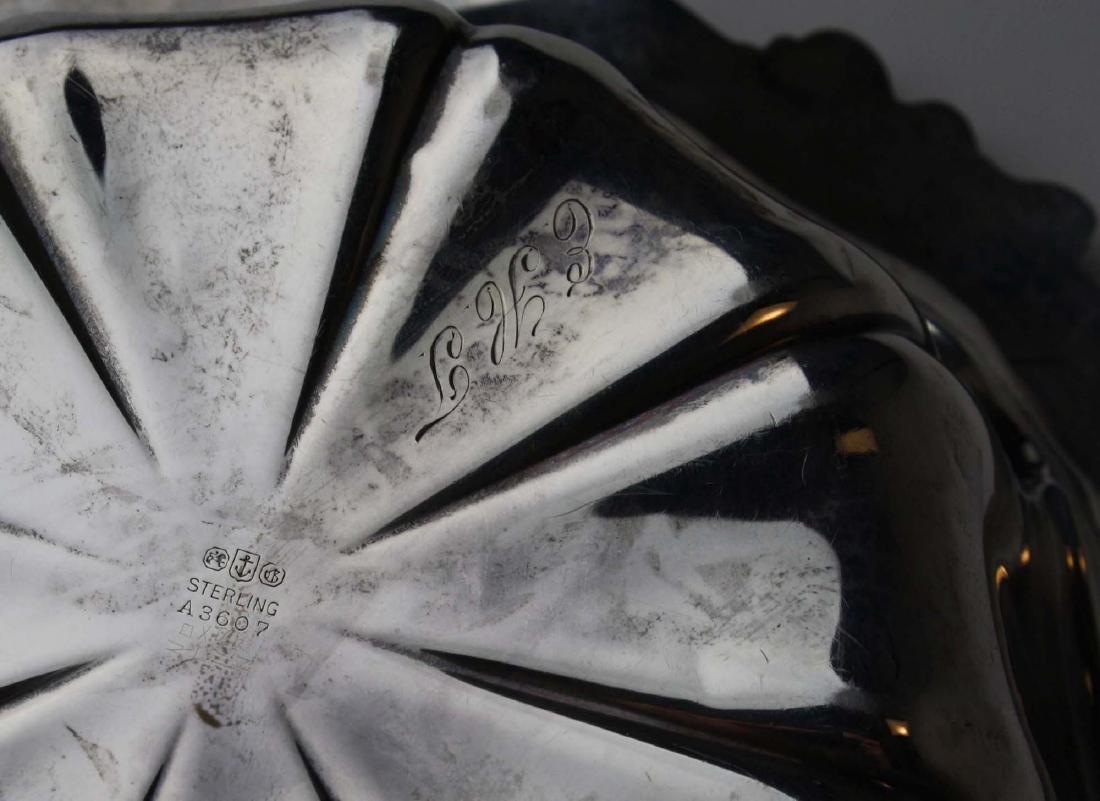 Gorham ornate sterling silver serving bowl - 6