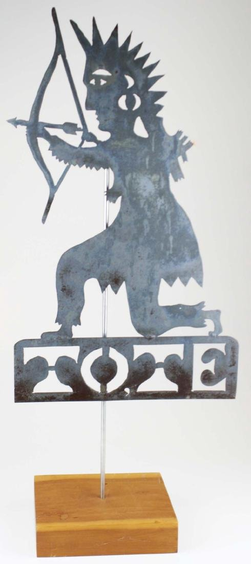 Iron TOTE weathervane