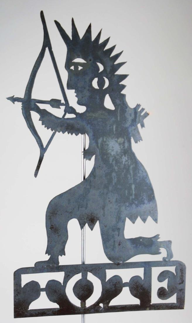 Iron TOTE weathervane - 2