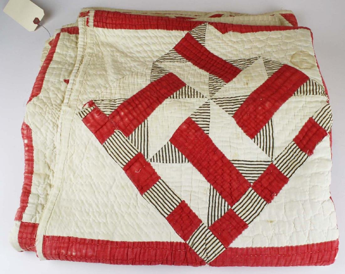 late 19th c pieced multi-pattern patchwork quilt - 4
