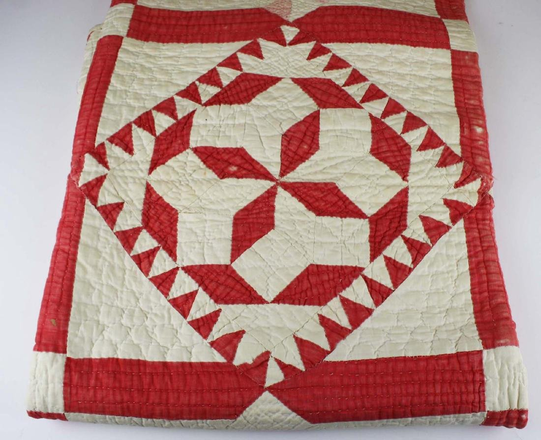 late 19th c pieced multi-pattern patchwork quilt - 6