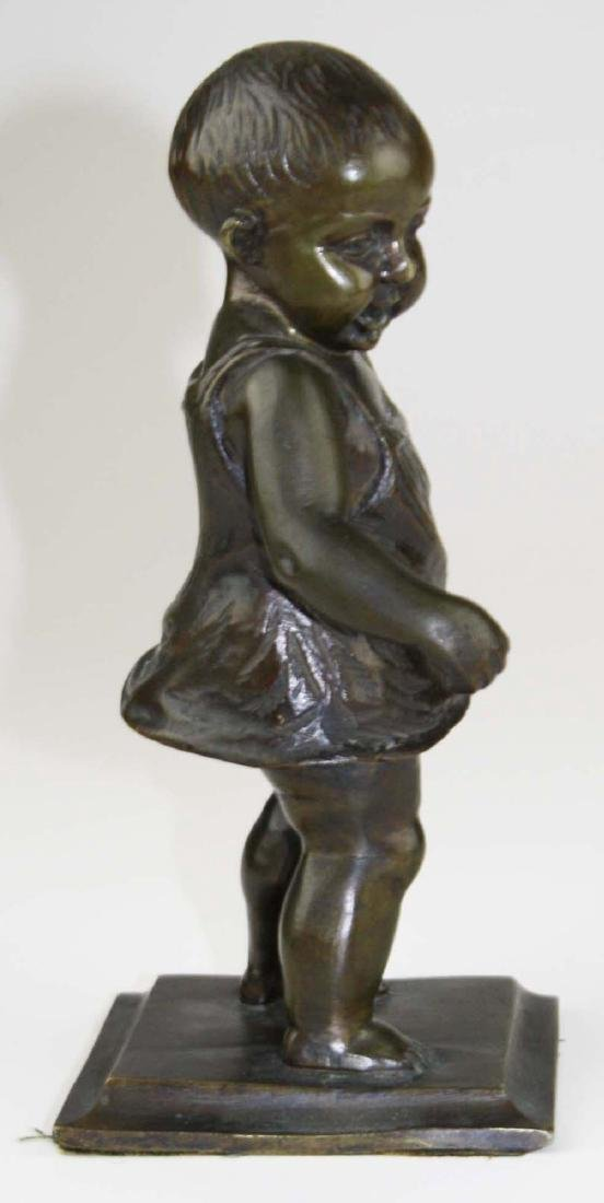 mid 20th c bronze toddler sculpture - 2