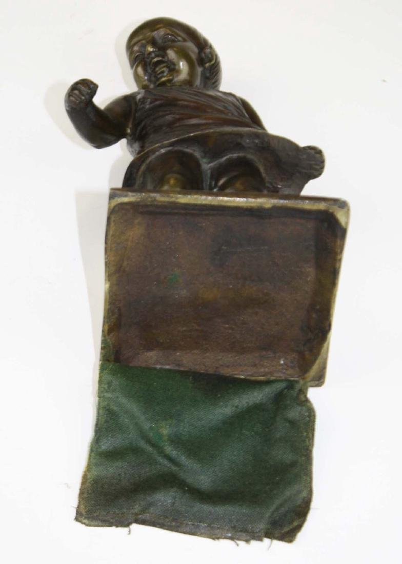 mid 20th c bronze toddler sculpture - 6