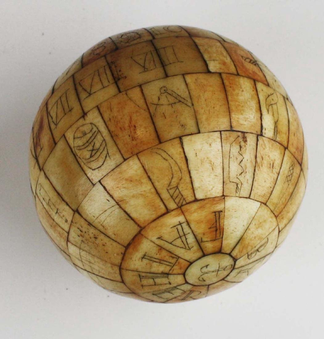 mid 19th c scrimshaw child's ABC globe - 8