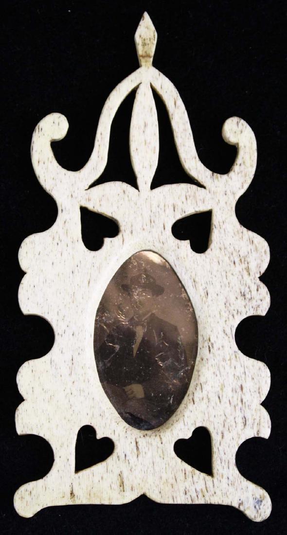 mid 19th c scrimshaw framed tintype - 5