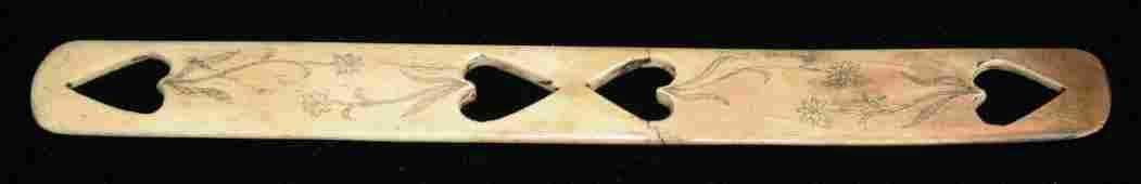 mid 19th c scrimshaw corset busk