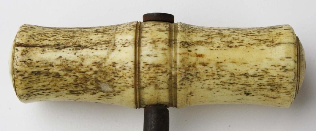 mid 19th c scrimshaw boot hook - 4