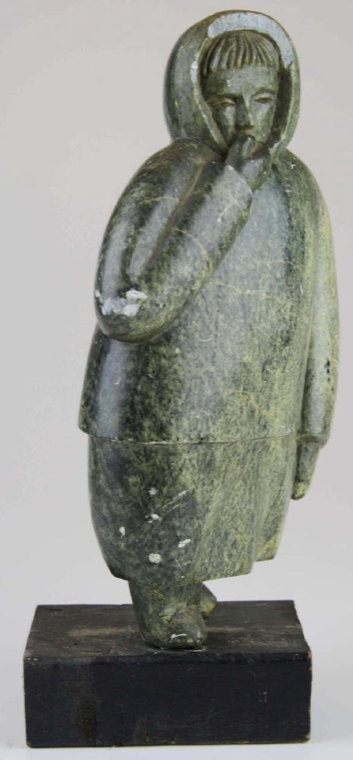 mid 20th c Inuit soapstone carving - 2