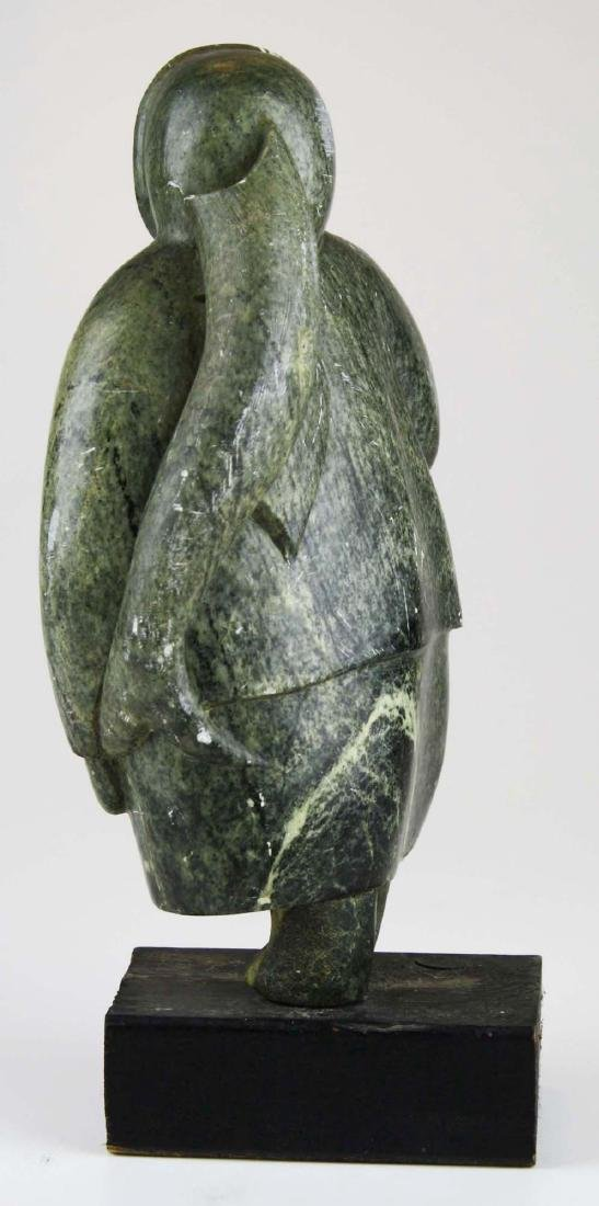 mid 20th c Inuit soapstone carving - 4