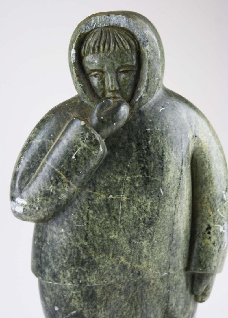 mid 20th c Inuit soapstone carving - 5